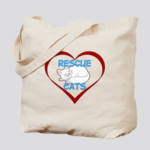 IHeart Rescue Cats Tote Bag
