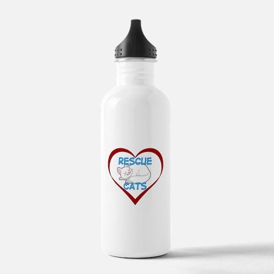 IHeart Rescue Cats Water Bottle