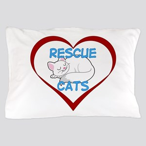 IHeart Rescue Cats Pillow Case