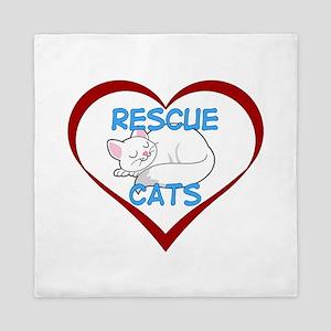 IHeart Rescue Cats Queen Duvet