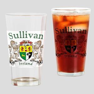 Sullivan Irish Coat of Arms Drinking Glass