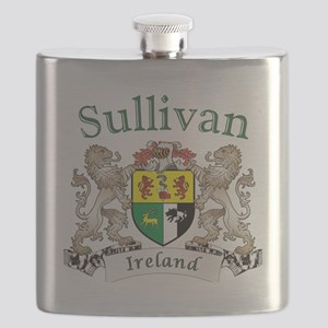 Sullivan Irish Coat of Arms Flask