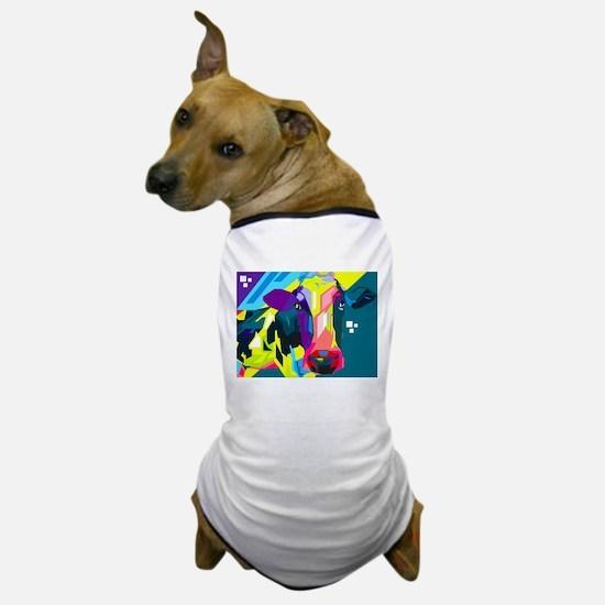 Pop Art Cow Animal Print Dog T-Shirt