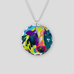Pop Art Cow Animal Print Necklace