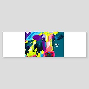 Pop Art Cow Animal Print Bumper Sticker