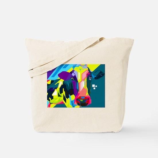 Pop Art Cow Animal Print Tote Bag