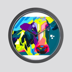 Pop Art Cow Animal Print Wall Clock