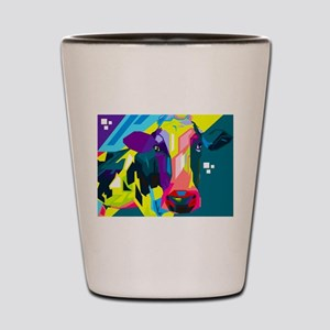 Pop Art Cow Animal Print Shot Glass