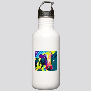 Pop Art Cow Animal Print Water Bottle