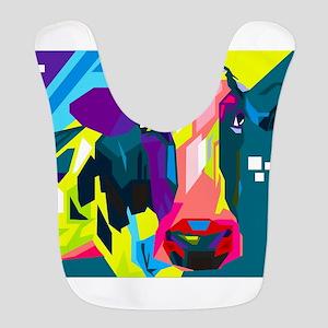 Pop Art Cow Animal Print Bib