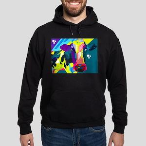 Pop Art Cow Animal Print Hoodie