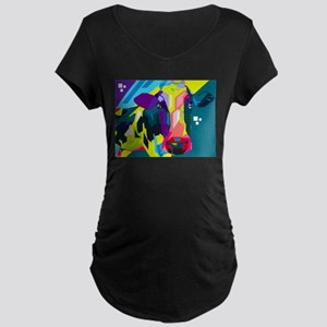 Pop Art Cow Animal Print Maternity T-Shirt