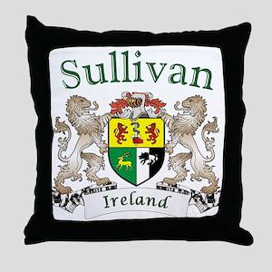 Sullivan Irish Coat of Arms Throw Pillow