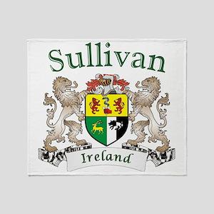 Sullivan Irish Coat of Arms Throw Blanket