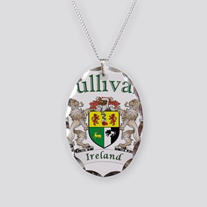 Sullivan Irish Coat of Arms Necklace Oval Charm