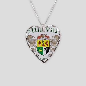 Sullivan Irish Coat of Arms Necklace Heart Charm