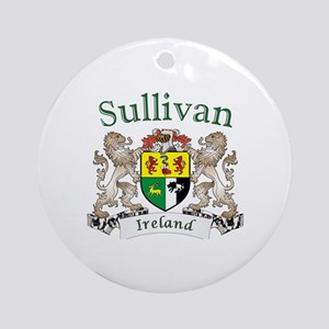 Sullivan Irish Coat of Arms Round Ornament