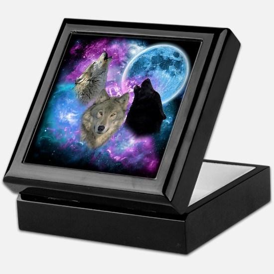 Wolves Mystical Night Keepsake Box