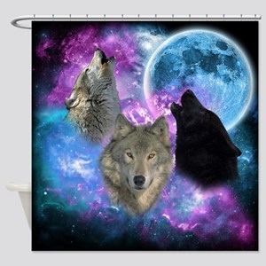 Wolves Mystical Night Shower Curtain