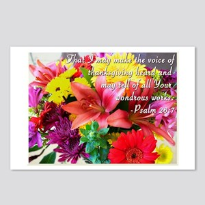 Giving Thanks, Flowers Postcards (package Of 8)
