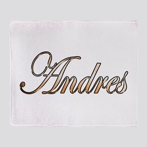 Gold Andres Throw Blanket