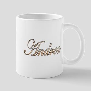 Gold Andrea Mugs