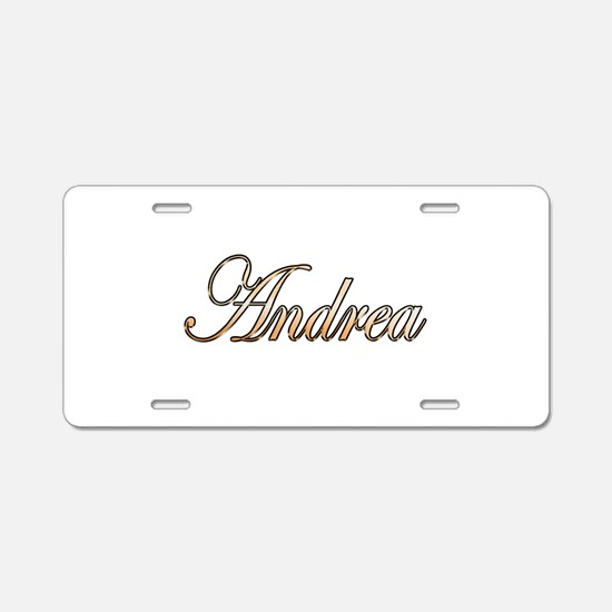 Gold Andrea Aluminum License Plate