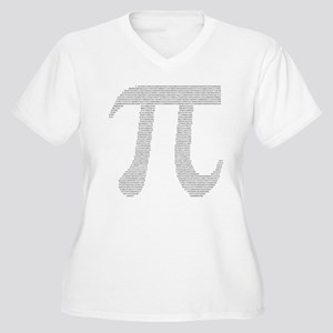 Digits of Pi Women's Plus Size V-Neck T-Shirt