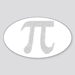 Digits of Pi Oval Sticker