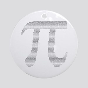 Digits of Pi Ornament (Round)