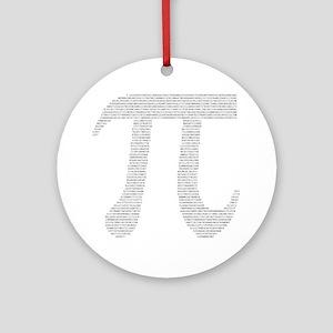 Digits of Pi Ornament (Round)