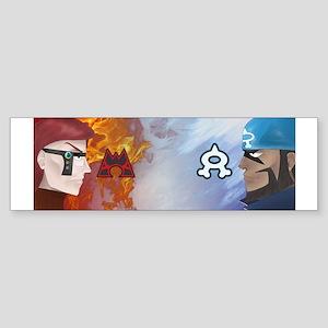 Nerds vs. Pirates Bumper Sticker