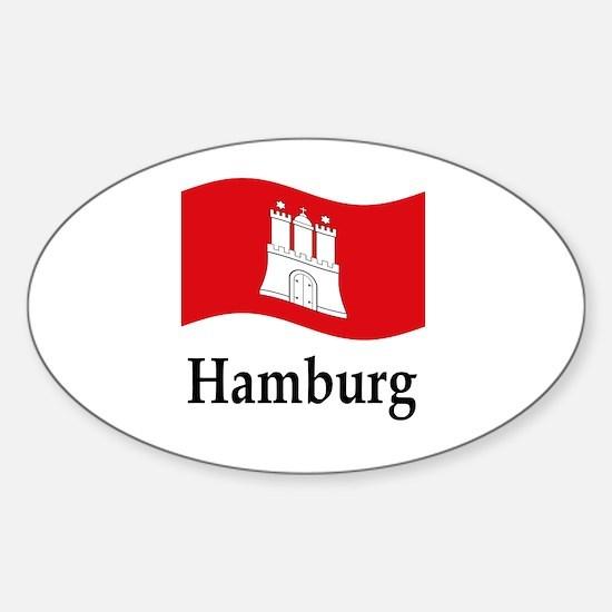 Waving Germany Flag Sticker (Oval)