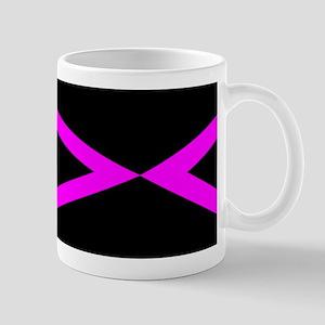 Black Hot Pink Geo Design Mugs