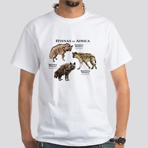 Hyenas of Africa White T-Shirt