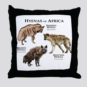 Hyenas of Africa Throw Pillow