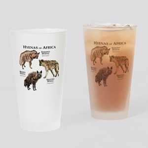 Hyenas of Africa Drinking Glass