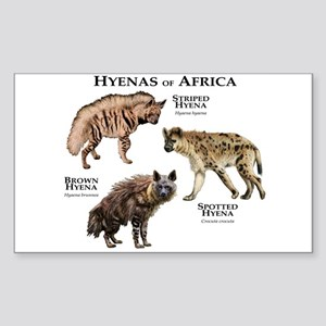 Hyenas of Africa Sticker (Rectangle)