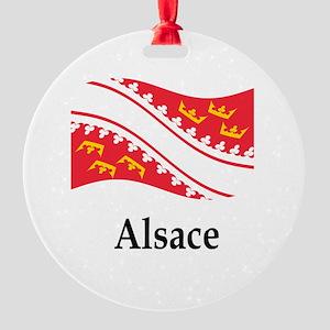 France Flag Round Ornament