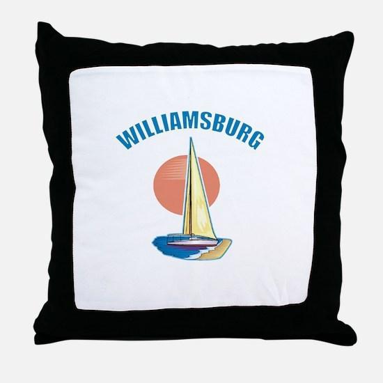 Williamsburg, Virginia Throw Pillow