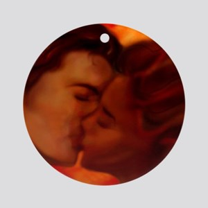 Hot Kiss Ornament (Round)