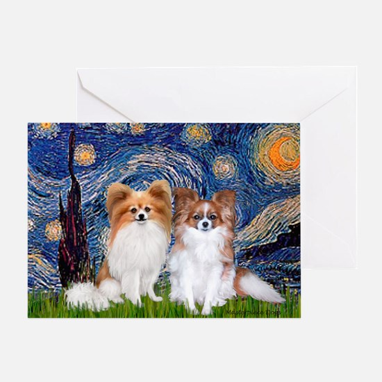 Starry Night & Papillon Greeting Card