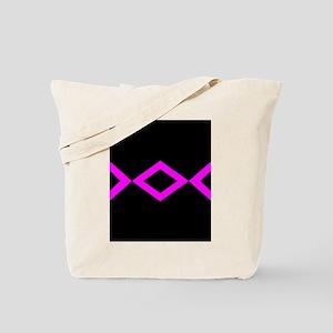Black & Hot Pink Geo Tote Bag