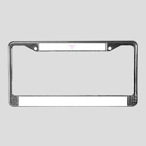 Charlottesville Girl License Plate Frame