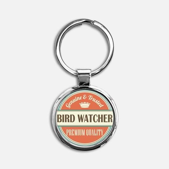 Bird Watcher Round Keychain