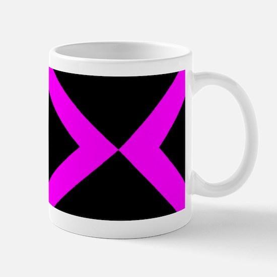 Black & Hot Pink Geo Mug