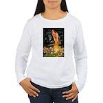 Midsummer / Yorkie Women's Long Sleeve T-Shirt