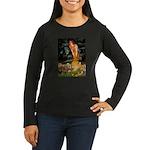 Midsummer / Yorkie Women's Long Sleeve Dark T-Shir