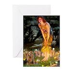 Midsummer / Yorkie Greeting Cards (Pk of 10)