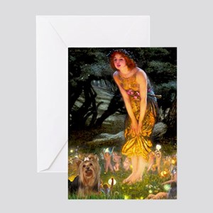 Midsummer / Yorkie Greeting Card